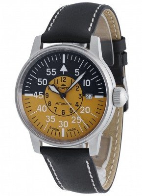 poza Fortis Flieger Cockpit Automatic Yellow Date 595.11.14 L.01