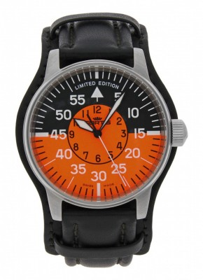 poza Fortis Flieger Cockpit Orange 654.10.13 L.01 Limited Edition