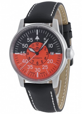poza Fortis Flieger Cockpit Orange Date 595.11.13 L.01