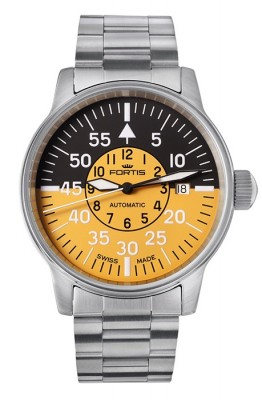 poza Fortis Flieger Cockpit Yellow Date 595.11.14 M