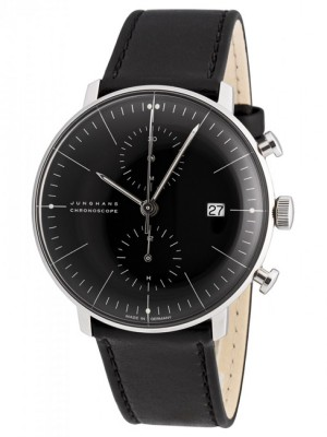 poza ceas Junghans Max Bill Chronoscope Steel Black