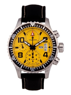poza ceas Karl Breitner Aviator Steel Yellow