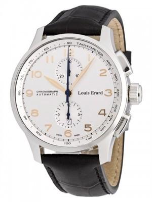 poza ceas Louis Erard 1931 Chronograph Steel