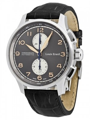 poza ceas Louis Erard 1931 Chronograph Steel Grey