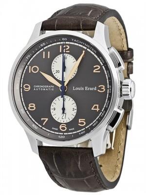 poza ceas Louis Erard 1931 Chronograph Steel Grey 2