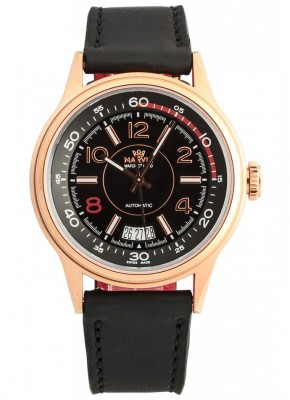 poza ceas Marvin Malton Round Automatic Gold Black