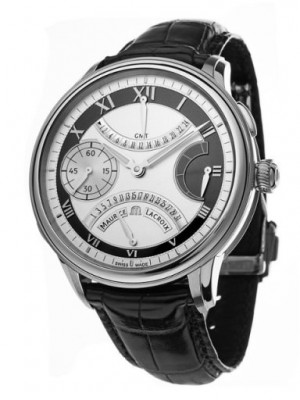 poza Maurice Lacroix Double Retrograde Steel Black
