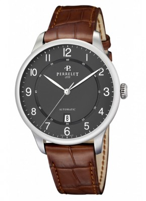 poza Perrelet First Class Classic Steel Black