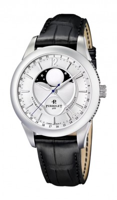 poza ceas Perrelet Moonphase Automatic Steel