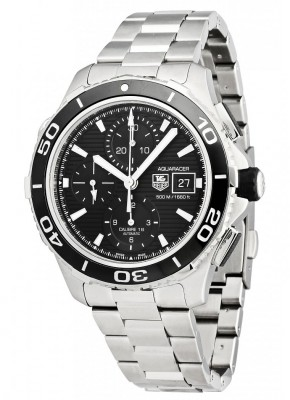 poza ceas Tag Heuer Aquaracer Automatic Chronograph Steel Black