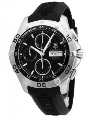 poza ceas Tag Heuer Aquaracer Automatic Chronograph Steel Black 3