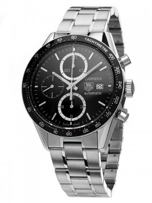 poza ceas Tag Heuer Carrera Automatic Steel Black