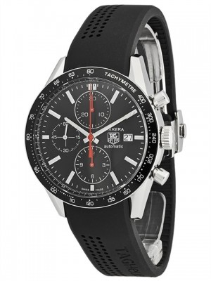 poza ceas Tag Heuer Carrera Automatic Steel Black 2