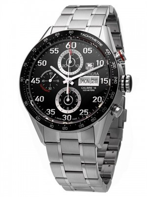 poza ceas Tag Heuer Carrera Automatic Steel Black 3