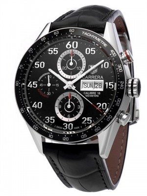 poza ceas Tag Heuer Carrera Automatic Steel Black 4