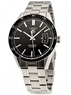 poza ceas Tag Heuer Carrera Automatic Steel Black 5