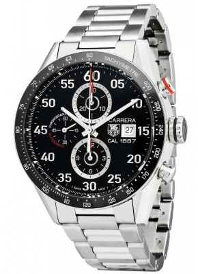 poza ceas Tag Heuer Carrera Automatic Steel Black 6