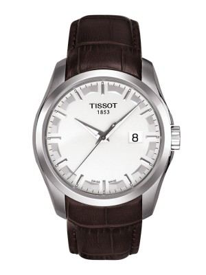 poza Tissot Couturier Quartz Gent Steel White