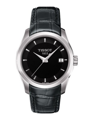 poza Tissot Couturier Quartz Lady Steel Black