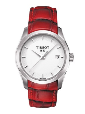 poza Tissot Couturier Quartz Lady Steel Red