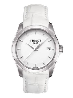 poza Tissot Couturier Quartz Lady Steel White