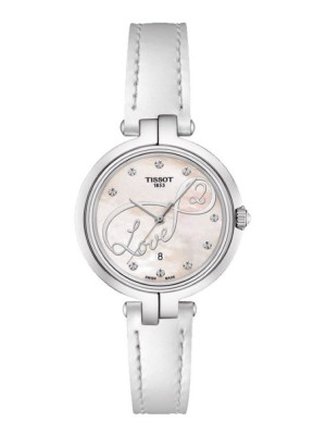 poza Tissot Flamingo Steel White