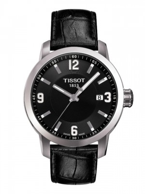 poza Tissot PRC 200 Quartz Gent Steel Leather 3