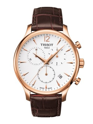 poza Tissot Tradition Chronograph Gold