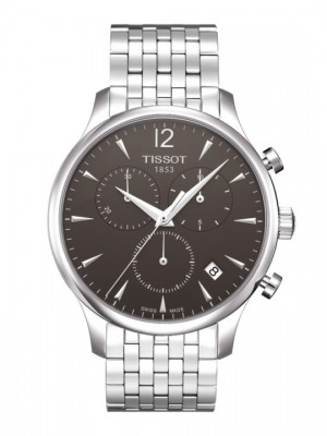 poza Tissot Tradition Chronograph Steel Black