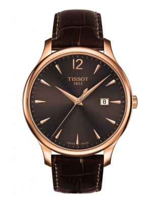 poza Tissot Tradition Gent Gold Brown