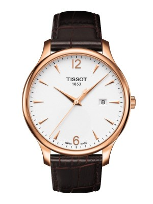 poza Tissot Tradition Gent Gold White