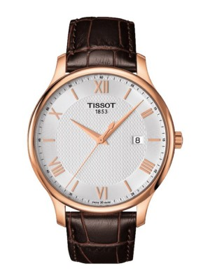 poza Tissot Tradition Gent Gold White 2
