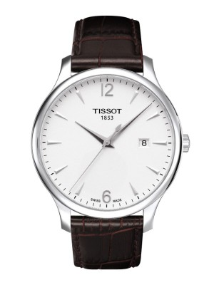 poza Tissot Tradition Gent Steel White
