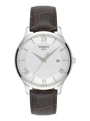 poza Tissot Tradition Gent Steel White 2