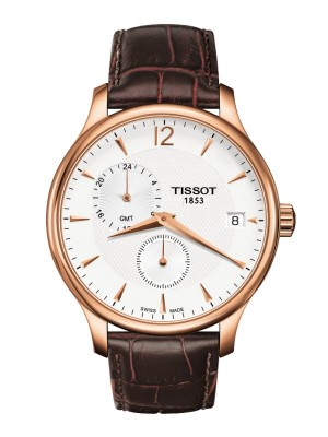 poza Tissot Tradition GMT Gold White