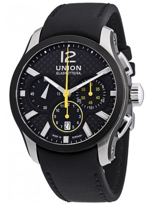 poza ceas Union Glashutte Belisar Automatic Steel Black 2