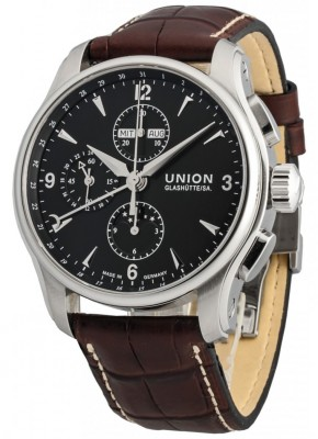 poza ceas Union Glashutte Belisar Automatic Steel Black 3