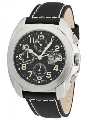 poza ceas Zeno Watch Basel Carre OS Steel Black