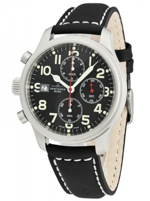 poza ceas Zeno Watch Basel NC Pilot Steel Black