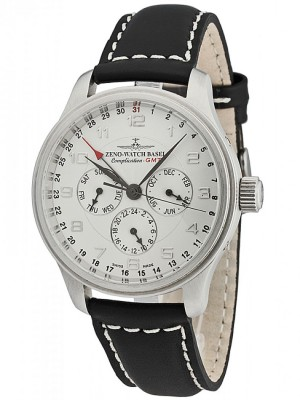 poza ceas Zeno Watch Basel NC Retro GMT Steel