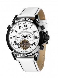 Ceas barbatesc Calvaneo 1583 Astonia Black White Limited
