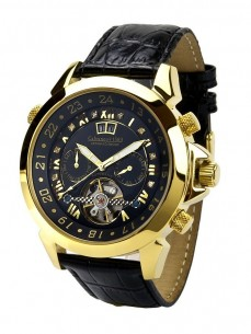 Ceas barbatesc Calvaneo 1583 Astonia Diamond Black Gold