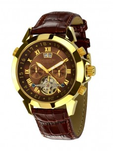 Ceas barbatesc Calvaneo 1583 Astonia Gold Brown