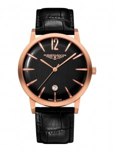 Ceas barbatesc Cornavin Bellevue Rose Gold Black