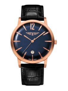 Ceas barbatesc Cornavin Bellevue Rose Gold Blue