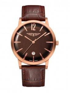 Ceas barbatesc Cornavin Bellevue Rose Gold Brown