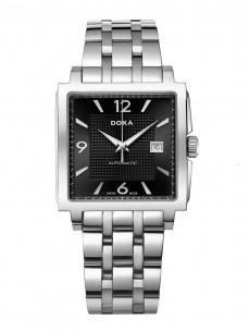 Ceas barbatesc Doxa Quadro II Automatic Steel Black 2