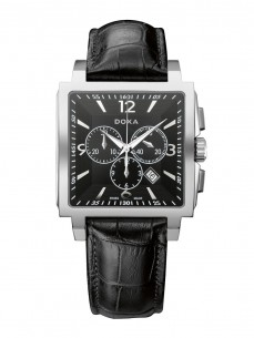 Ceas barbatesc Doxa Quadro II Chrono Steel Black