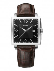 Ceas barbatesc Doxa Quadro II Steel Black