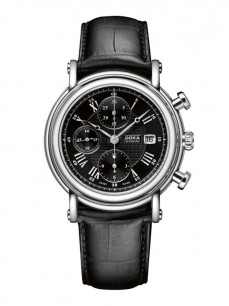 Ceas barbatesc Doxa TC Automatic Chronograph Steel Black